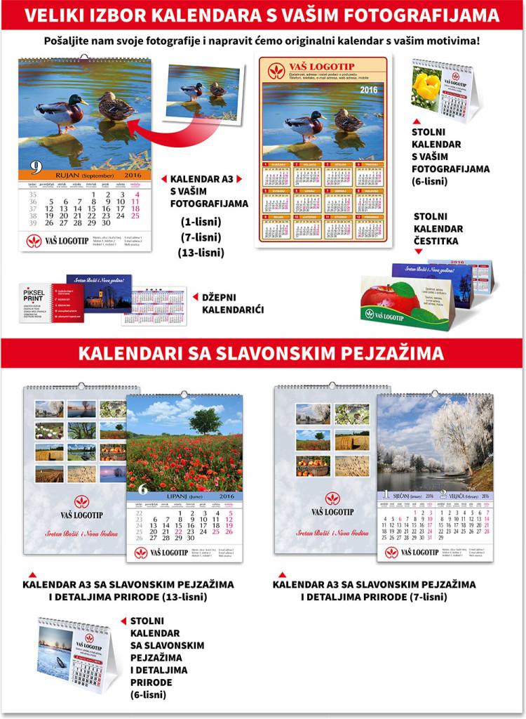 kalendari za 2016. godinu